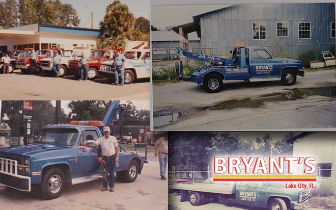 Bryant's 24 Hour Towing Service Tow Trucks, Serving Columbia County Florida for 25 years