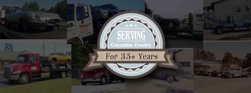 Bryant's Towing Serving Columbia County for 35 years!