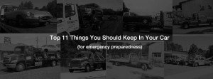 11 things you should keep in your car for roadside preparedness